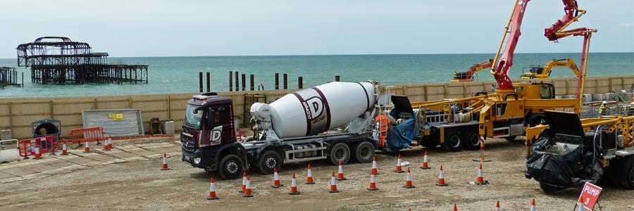 Concrete pour for Brighton i360
